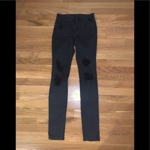 Joe's Black Skinny Distressed Jeans